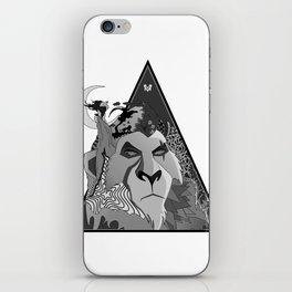 Black & White Scar iPhone Skin