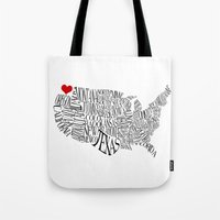 washington Tote Bags featuring Washington by Taylor Steiner