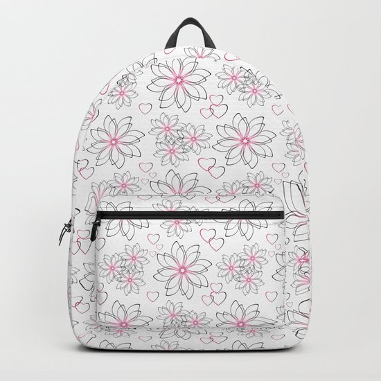 Cute floral pattern. Backpack