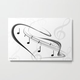 DT MUSIC 3 Metal Print