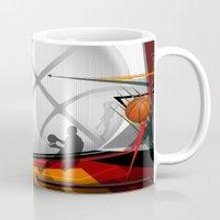 basketball Mugs featuring Basketball by Robin Curtiss