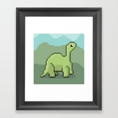 Another Pixel Dino! Framed Art Print