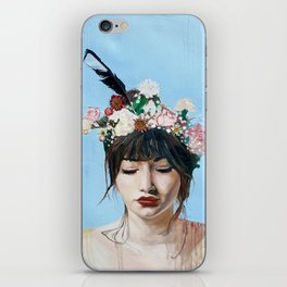 Portrait of Athena Goddess of Arts, Literature and War with Intelligent Reason iPhone Skin