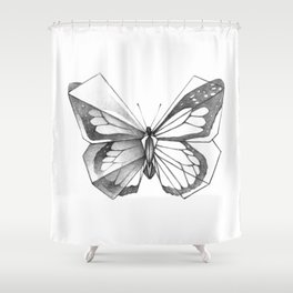 Butterfly Origami Shower Curtain