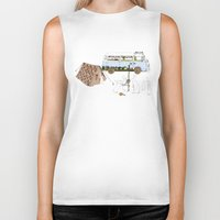 camping Biker Tanks featuring Camping Rabbits by Emma Traynor