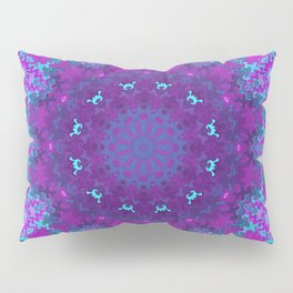 Pink, Purple, and Blue Kaleidoscope Pillow Sham