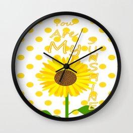 Inspired Sunshine Quote Wall Clock