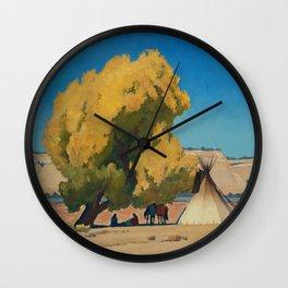 """Lazy Autumn"" Western Art by Maynard Dixon Wall Clock"