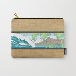Ala Moana Diamond Head Hawaiian Surf Sign Carry-All Pouch