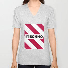Thank God is Techno Unisex V-Neck