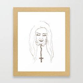 Santa de la Perla Framed Art Print