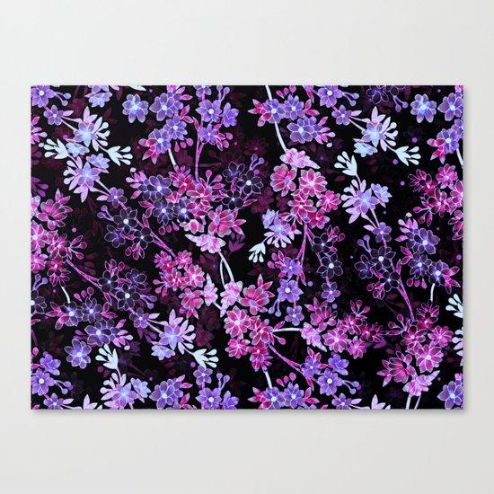 Pink & Purple Floral Pattern Canvas Print