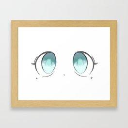 Manga Blue Eyes Framed Art Print