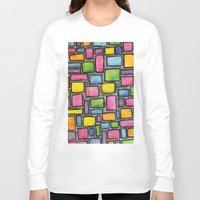 mod Long Sleeve T-shirts featuring Geometric Mod by Andrea Gingerich