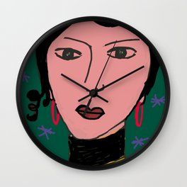 Portrait by Stefania Wall Clock