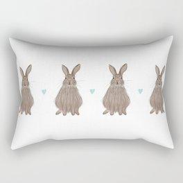Countryside Rabbit Rectangular Pillow