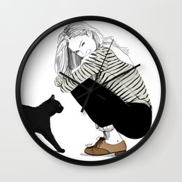 A Black Cat Named Ollie Wall Clock