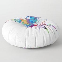 Phoenix Watercolor Print Nursery Art Gift for Her Bird Art Floor Pillow