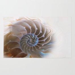 Natural spiral Rug