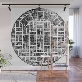 1954 Manhole Cover Ink Print From Beijing Wall Mural