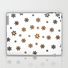 Snowflakes (Bronze and Black on White) Laptop & iPad Skin