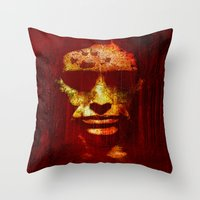 witch Throw Pillows featuring witch by Joe Ganech