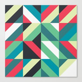 Colorful Shapes Texture, Retro Style, Canvas Print