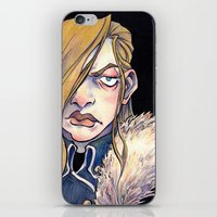 louis armstrong iPhone & iPod Skins featuring Armstrong by Naïs Quin