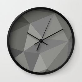 Polygon art 01 Wall Clock