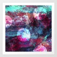 night sky Art Prints featuring Night Sky by Marlidesigns