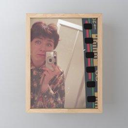 Selfie on film Framed Mini Art Print