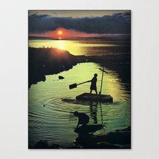Golden beacon of the setting sun... Canvas Print