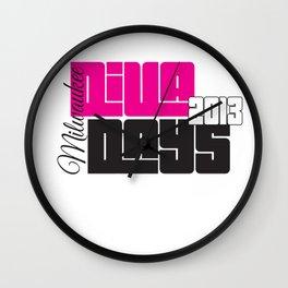 Diva Days Milwaukee 2013 (Centered & Smaller) Wall Clock