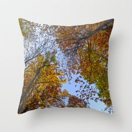 """""""Up in the air"""". Forest colors Throw Pillow"""