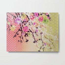 Japanese Cherry Blossom Tree Metal Print