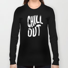 Chill Out Vintage Pink Long Sleeve T-shirt