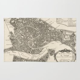 Vintage Map of Venice Italy (1764) Rug