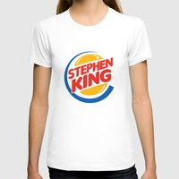 stephen king T-shirts featuring Stephen King by Alejo Malia