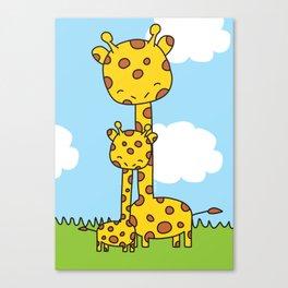Giraffe Hugs Canvas Print
