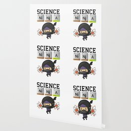 Science Ninja Design Funny Chemistry Elements Gift for Nerds graphic Wallpaper