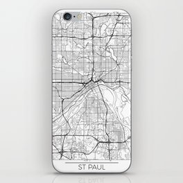 St Paul Map White iPhone Skin