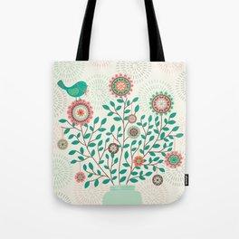 Paper floral Tote Bag