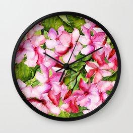 Aloha-my tropical pink oleander flower garden Wall Clock
