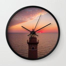 Little Sable Sunset Wall Clock