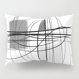 Black & White  Abstract Line drawings, Nordic wall home decor, Minimal geometric abstraction 2 Pillow Sham