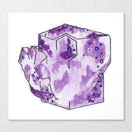 Flourite Cube Portrait Canvas Print
