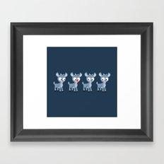 Hey look, it's Rudolph! Framed Art Print