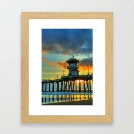 Dramatic Sunset Framed Art Print
