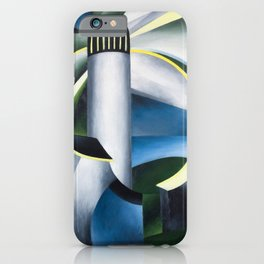 Variation on a Lighthouse landscape painting by Ida O'Keeffe iPhone Case