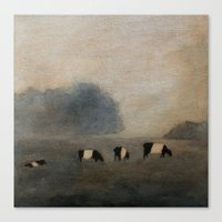 cows Canvas Prints featuring Cows by Claire Whitehead